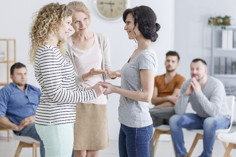 Group therapy for people with trust issues in session